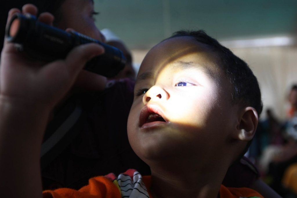 Alif (2 years old) could only distinguish between light and dark. Darkness is a miserable state of being for young children, thus he constantly searched for light.