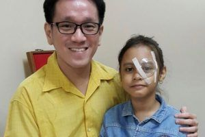 Nur Halimah after her operation