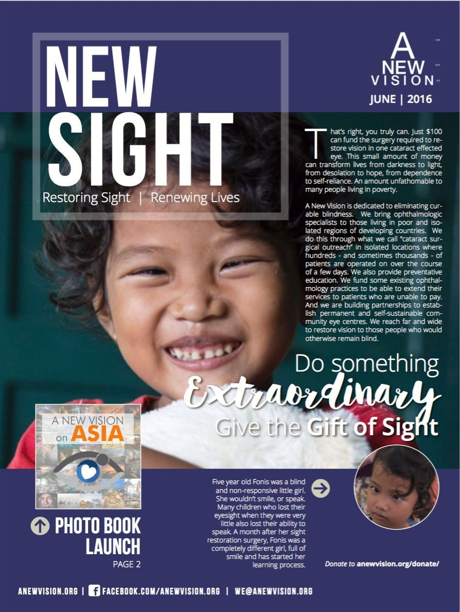 June 2016 Newsletter from A New Vision