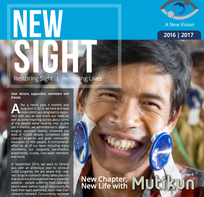 new sight, a new vision newsletter 2016-2017